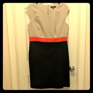 NWT ELLEN TRACY COLOR BLOCK DRESS